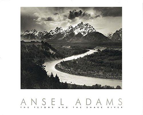 Pôster de impressão de paisagem preto e branco Peddler Snake River and The Tetons de Ansel Adams 30x24, 30x24, 1