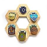 Hexagon Box Displays Display Storage Tray,6-teiliger Rahmen zum Anzeigen von Medaillen,Rahmen zum...
