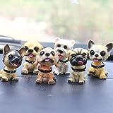 QWP. 1pc Kawaii Auto Ornamenti Carino Scuotere la Testa in Resina del Cucciolo del Cane Figurine Auto Cruscotto Giocattoli Desktop Arredamento Decor (Color : 01)