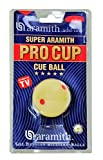 Aramith 2-1/4' Regulation Size Billiard/Pool Ball: Super Pro Cup Cue Ball with 6 Red Dots