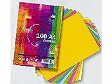 Papel A4 80 Gramos Tauro-Extra 100 Hojas (10 Colores de Tonos Fuertes por 10 ...
