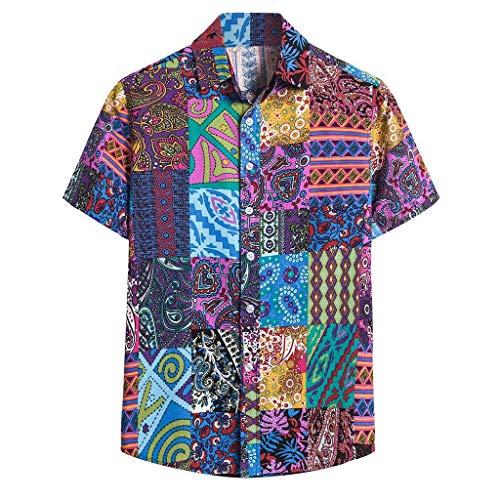 POQOQ Iron-Man Shirt Man City Shirt Man Shirt Man Muscle Shirt Man Shirt Man Polo Shirt Man Shirt Man Tank Top Man (XXL,7Purple)