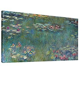 Vijf Arte Large Canvas Wall Art Water Lilies by Claude Monet Famous Painting - Classic Canvas Art Wall Decor Nature Picture Print with Framed for Home Office Wall Decor-28  x60