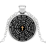 New Boys Christian Necklace Religious Inspirational Père Son Glass Pendentif