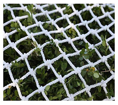 White Safety Net Child Climbing Rope Net Treehouse Swing Outdoor Railing Playground Cargo Net Truck Stair Fence Kids Rope Ladder Decor Net (Size : 3x4m(10x13ft))