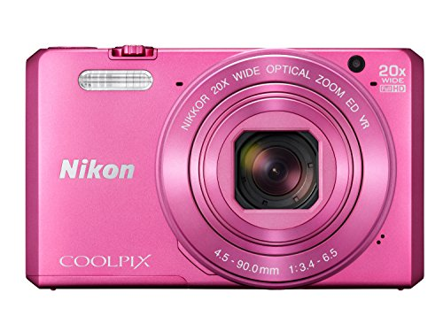 Nikon Coolpix S7000 Digitalkamera (16 Megapixel, 20-Fach Opt. Zoom, 7,6 cm (3 Zoll) LCD-Display, USB 2.0, bildstabilisiert) pink