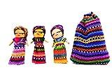 Fair Trade Sorgenpüppchen - 3 Stück im Baumwollbeutel aus Guatemala -