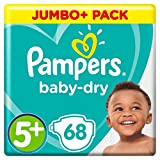 Pampers - Baby Dry - Couches Taille 5+ (13-25 kg) - Jumbo+ Pack (x68 couches)