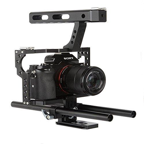 Werse VD-07 Tragbare Aluminium Kamera Käfig Rig Stabilisator Top Griff Griff für DSLR Kamera DV für Sony A7 A7 A7s II A6300 A6000 für Panasonic GH4