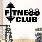 Gimnasio personalizado club de fitness pegatinas de pared de vinilo fitness bodybuilding wallpaper dormitorio decoración del hogar