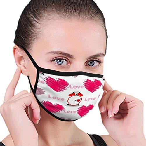 Mundschutz für Frauen und Männer Herzen Word Love Watch Valentinstag Gebrauchtdruck