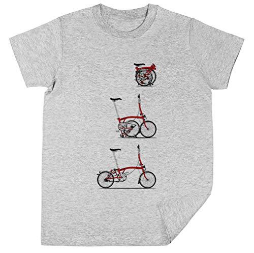 Wigoro Yo Amor Mi Plegable Brompton Bicicleta Niños Unisexo Chicos Chicas Gris...