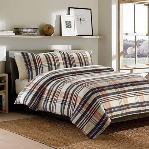 Flannel Check - 100% Brushed Cotton Flannelette Duvet Cover Set with Pillowcase, Multicolor, Single
