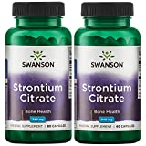 Swanson Strontium Citrate 340 mg 60 Caps 2 Pack