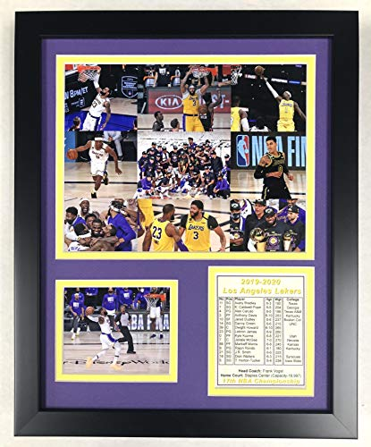 LA Lakers   2019-2020 NBA Champions   12'' x15 Framed Photo Collage   Legends Never Die, Inc.  Collage (12393U)