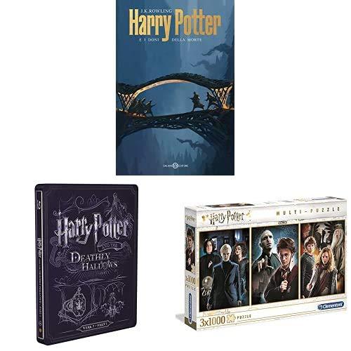 Harry Potter E I Doni Della Morte - Parte 01 (Steelbook + Libro) + Puzzle Clementoni Harry Potter