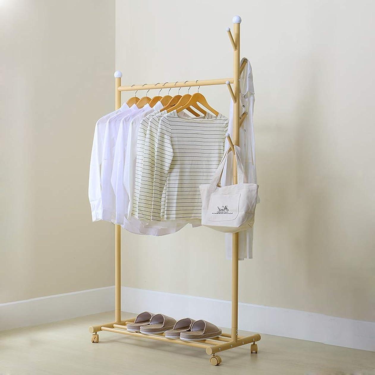 ブーストナイトスポット罪人GLJJQMY 薄黄色の単純で現代的なハンガーの床の寝室の家のコートラックハンガーの床165 * 88 * 43 cm。 。 ウォールマウントシェルフ