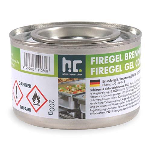 24 x 200g Brennpaste - für Gastronomie und Privathaushalte - zum Warmhalten von Speisen - von Höfer Chemie