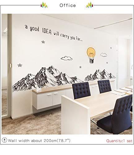Pegatina XXL pared/cristal montañas y globo decoracion cool ...
