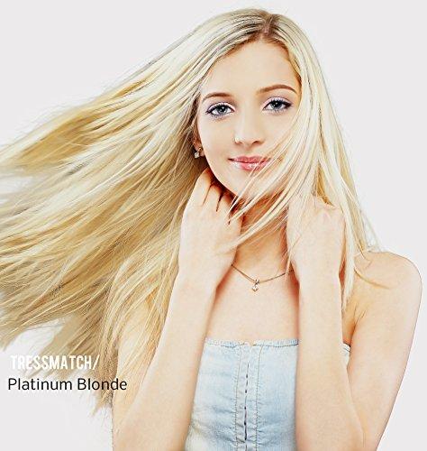 Tressmatch 20'-22' Remy Human Hair Clip in Extensions Platinum Blonde...
