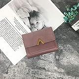 BBK Portafoglio Corto da Donna Singolo,Portafoglio con Cuciture opache,Portafoglio da Donna Monopezzo,Nuovo Design Semplice con Fibbia in Metallo