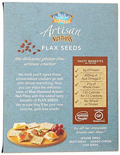 Blue Diamond Almond Cracker Crisps, Flax Seed, 4.25 oz