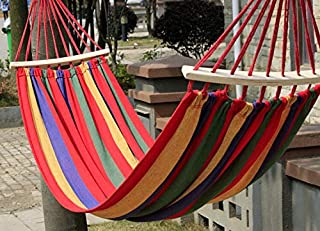 Vruta Hammock Cotton Soft Woven Bed for Supreme Comfort Fabric Travel Camping Hammock for Backyard