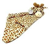 Baby Security Blanket - 18' Tall Soft Fleece Baby Blanky for Boys & Girls – Baby Soothing Blanket with Plush Stuffed Animal - Giraffe