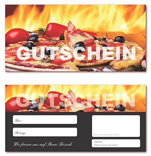 100 Stück Geschenkgutscheine (Pizza-624) Gutscheine Gutscheinkarten für Bereiche wie Gastronomie, Pizzeria, Restaurant, Lieferdienst