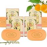 Pack 4x100g Seife JOIE Un Air d'Antan/Parfüm: Orangenblüte/Bio-Arganöl &...