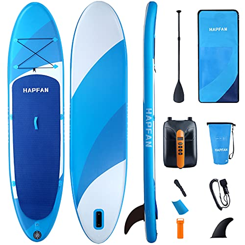 """Hapfan Inflatable Stand Up Paddle Board w/High Pressure Electric Pump 11' x 32"""" x 6"""", All Around Paddle Boards w/Dual-Layer Rugged Build - 350lbs Weight Capacity SUP Board"""