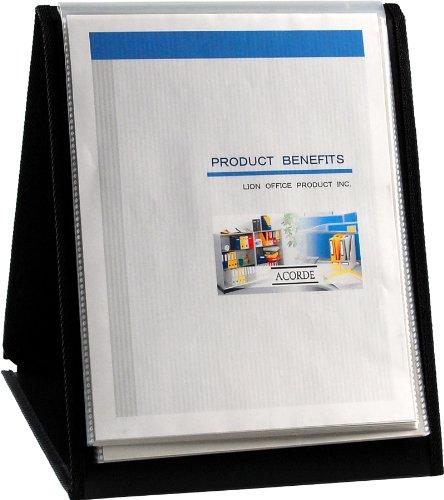 Lion Flip-N-Tell Display Book-N-Easel, Letter, 20-Pocket, Vertical, 1 Easel Display Book (39009-V)