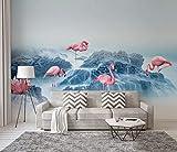 Glfeng Papel Pintado Fotomural Vinilos Decorativos | Concepción Artística Flamingo de Reef Sea | Papel Pintado Sala de Estar Dormitorio Oficina Pasillo Decoración-430cmx300cm