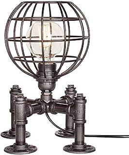 HUANMING Lampe de Bureau Vintage Lampe de Table Industrielle Conduite d'eau Lampe de Table Valve Robinet de Bureau en Méta...