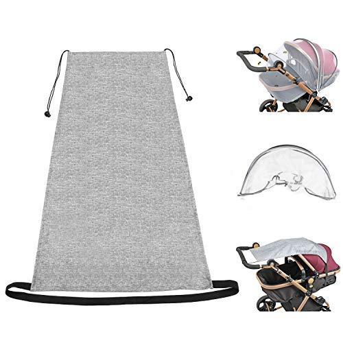 Universal Sonnensegel für Kinderwagen Babywanne, Buggy, UV Schutz Beschichtung 50+ Sonnenschutz Babys Sonnensegel Kinderwagen mit Tasche, Universal Insektenschutz Kinderwagen Mückennetz