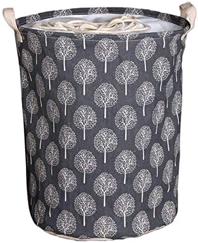Collapsible Hamper Basket Round Laundry Bin Durable Portable Dustproof Used for Cupboards Wardrobe Clothes Magazines Newspapers
