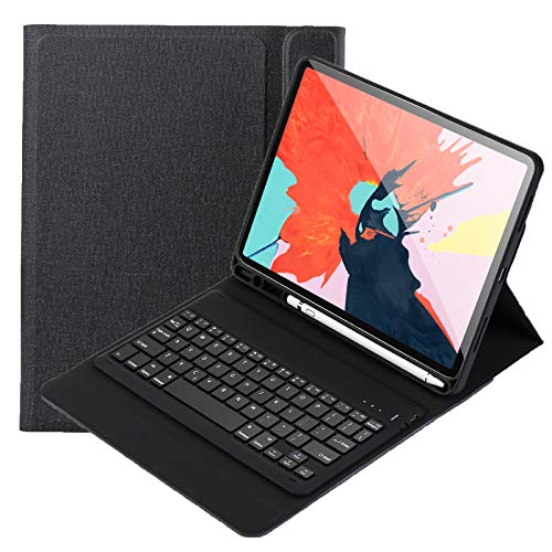 Keyboard Case for iPad Pro 11 inch 2021 - Leather Protective Cover with Wireless Bluetooth Keyboard QWERTY US Layout Built in Pencil Holder
