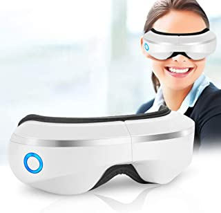 Eye Massager with Air Pressure, Music, Vibration Intelligent Eyes Massager with Heat Compression Therapy, Wireless Rechargeable Foldable Temple Massager for Headaches, Dry Eyes,Stress Relief