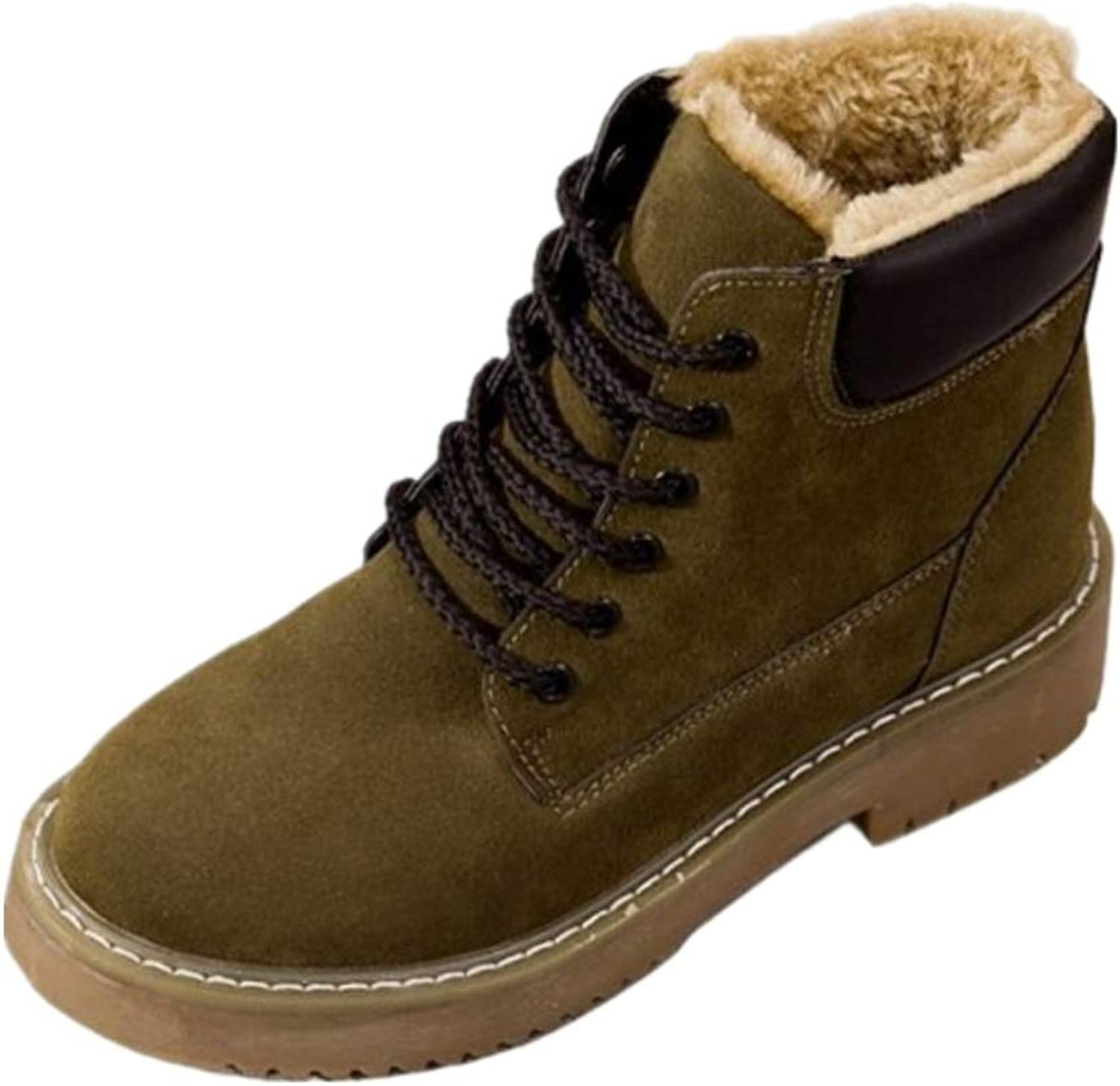 Other Ladies Womens Winter Flat Ankle Boots Trainer Lace Up Casual Boots Fur Lined Grip Sole Comfortable Warm Size Equestrian Thick Sneakers