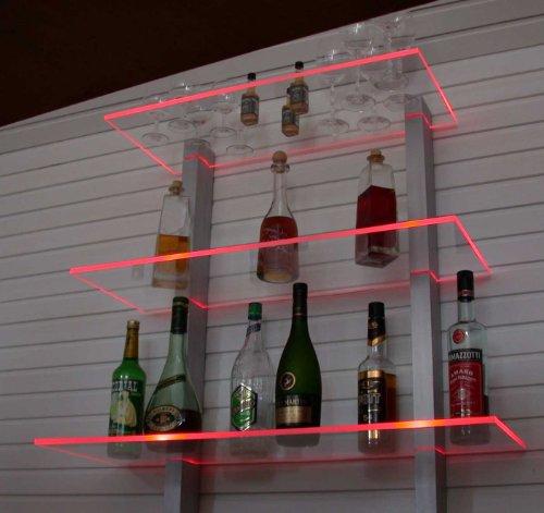 Design Bar Regal LED ideal Flaschen und Gläser