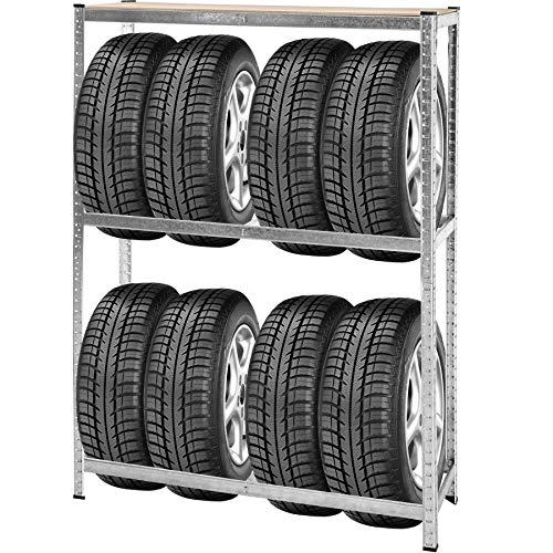 TecTake Etagère rayonnage à pneus et Roues Support Stockage pour Garage Rangement 180x120x40cm