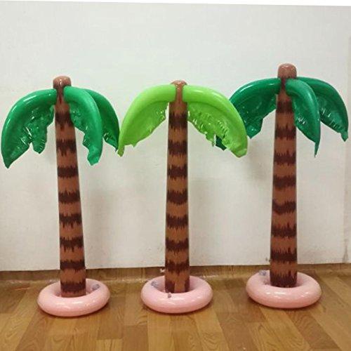 siwetg - Piscina Hinchable de 90 cm con Palmeras Tropicales para decoración de Fiestas o Fiestas