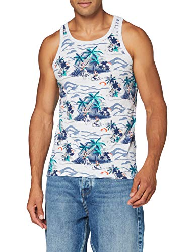 Superdry Supply Vest Camiseta sin Mangas, Blanco (Ice Marl AOP Cg8), XXS para Hombre