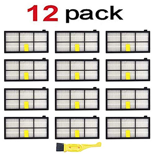 Neza Replacement Roomba 960 Filters,12 Pcs Hepa Filter for iRobot Roomba 800 Series 900 850 860 870 880 890 980 Vacuum Cleaner Accessories