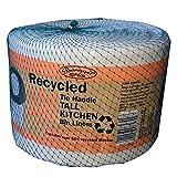 Banquet Reciclado 100 Bolsas de basura de cocina altos con asa de...