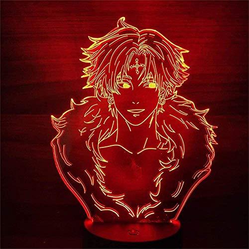 Optische 3D-Illusionslampe, einteilig, 3D-LED-Illusion, Nachtlicht, LED, Anime-Tischlampe