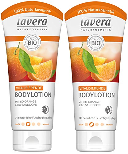 lavera Vitalisierende Bodylotion Bio Orange ∙ Intensive Feuchtigkeit ∙ Fruchtig frischer Orangenduft ∙ Body Lotion normale Haut ∙ vegan, Bio, Naturkosmetik, Natural, Körperpflege 2er Pack (2x200ml)