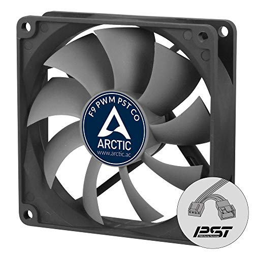 ARCTIC F9 PWM PST CO - 92 mm Case Fan with PWM Sharing Technology (PST), Dual Ball Bearing for Continuous Operation, Very quiet motor, Computer, Fan Speed: 150-1800 RPM