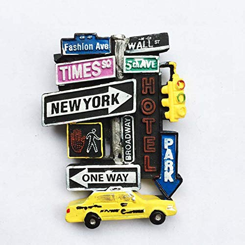 Hongma Imán Nevera Nueva York Muestra de La Calle 6,5cmx9cm para Recuerdos de Turistas Decoración del Hogar