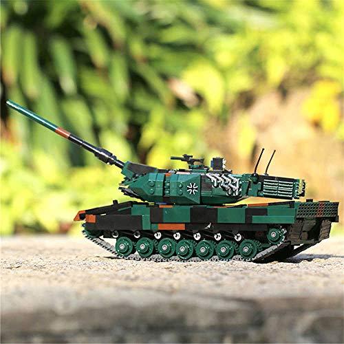 Brigamo Bausteine Panzer Leopard 2A6, 1346 Klemmbausteine, Konstruktionsspielzeug